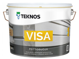 Антисептики - Кроющий антисептик TEKNOS VISA база 1 9л, 0