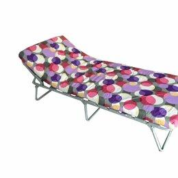 Раскладушки - Раскладушка раскладная кровать с матрасом вероника, 0