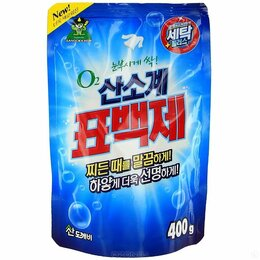 Антисептики - Кислородный отбеливатель ОКСИКЛ 400гр Пакет Корея, 0