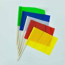 Спортивные игры и игрушки - Флажок большой на палочке разноцветный  -  ВК-94018, 0