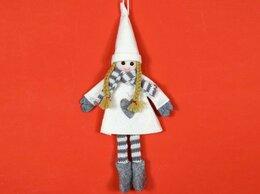 Ёлочные украшения - Кукла на ёлку ДЕВОЧКА С СЕРДЕЧКОМ, текстиль,…, 0
