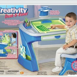 Столы и столики - Парта-мольберт American Plastic Toys Creativity Desk and Easel, 0