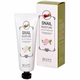 Уход за ногами - Jigott Крем для ног увлажняющий Snail moisture…, 0