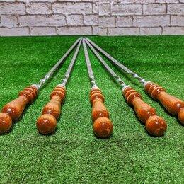 Шампуры - Шампуры 45 см с деревянной ручкой 5, 0
