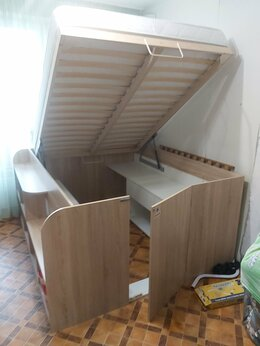 Кровати - Двуспальная кровать Twist up левая, 0