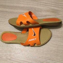 Шлепанцы - Сланцы брендовые Nike шлёпанцы тапочки тапки, 0