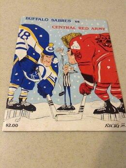 Спортивные карточки и программки - Хоккей - Баффало Сэйбрс НХЛ - ЦСКА Москва 1980, 0