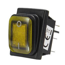 Запчасти и расходные материалы - Переключатель кнопка ШКВЗ-2 желтый, 0