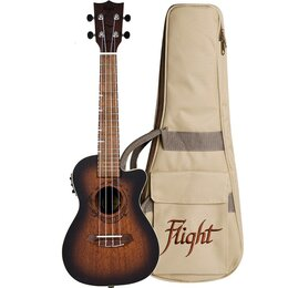 Укулеле - Flight DUC 380 CEQ AMBER - укулеле, концерт,…, 0