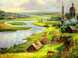 """Картины, постеры, гобелены, панно - Картина маслом Картина """"Деревенский пейзаж"""", 90x60, 0"""