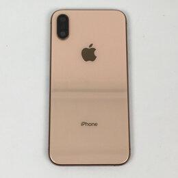 Корпусные детали - Корпус для Apple iPhone XS золотой, оригинал, 0