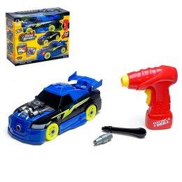 Детские наборы инструментов - Конструктор винтовой «Спорткар», с электрическим шуруповёртом, 26 деталей, 0