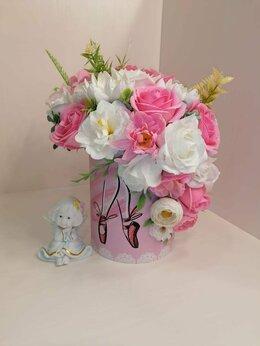 Искусственные растения - Букет цветов из мыльных роз, 0