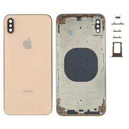 Корпусные детали - Корпус iPhone XS Max (золотой), 0
