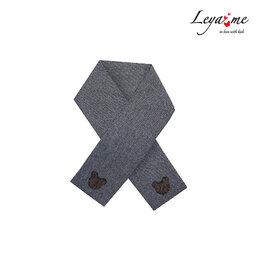 Шарфы - Серый теплый детский шарф с медвежонком, 0