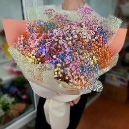 Цветы, букеты, композиции - Цветная гипсофила букет доставка, 0