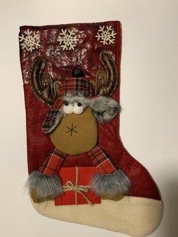 Подарочная упаковка - Нинбо Мешок рождественский Олень с кожаными…, 0