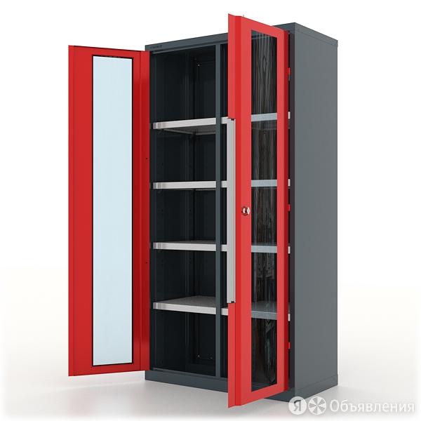 Шкаф инструментальный Ferrum Premium 13.2082, двери со стеклом, 8 полок по цене 61519₽ - Наборы инструментов и оснастки, фото 0