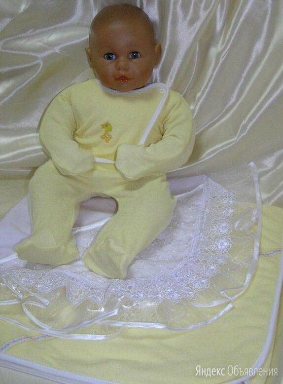 Комплект для новорожденного ш309 (бело-кремовый) по цене 1250₽ - Постельное белье, фото 0