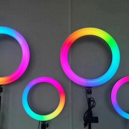 Осветительное оборудование - Светодиодная кольцевая лампа 26 см+Штатив, 0
