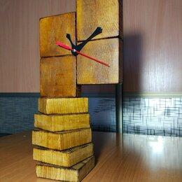 Часы настольные и каминные - Часы из бруса, 0