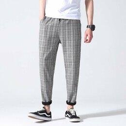 Брюки - Мужские клетчатые штаны, 0
