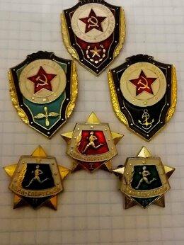 Жетоны, медали и значки - комплект значков армии ссср., 0