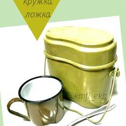 Туристическая посуда - Комплект котелок+кружка+ложка, 0