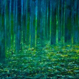 Картины, постеры, гобелены, панно -  Картина в дом   . Светлячки в бамбуковом лесу Япония. , 0