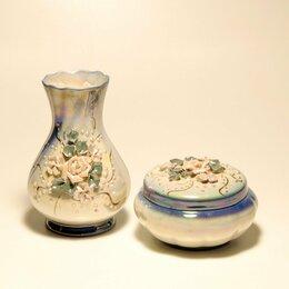 Декоративная посуда - Шкатулка вазочка, 0