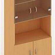 Шкафы для документов - Шкаф для документов со стеклом, с полкой, 0