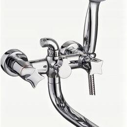 Краны для воды - LEDEME Смеситель для ванны (Lt) плоский повор.излив 35см, шар.див.в корп.,кер..., 0