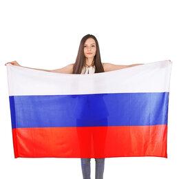 Флаги и гербы - Флаг России триколор «сетка» , 0