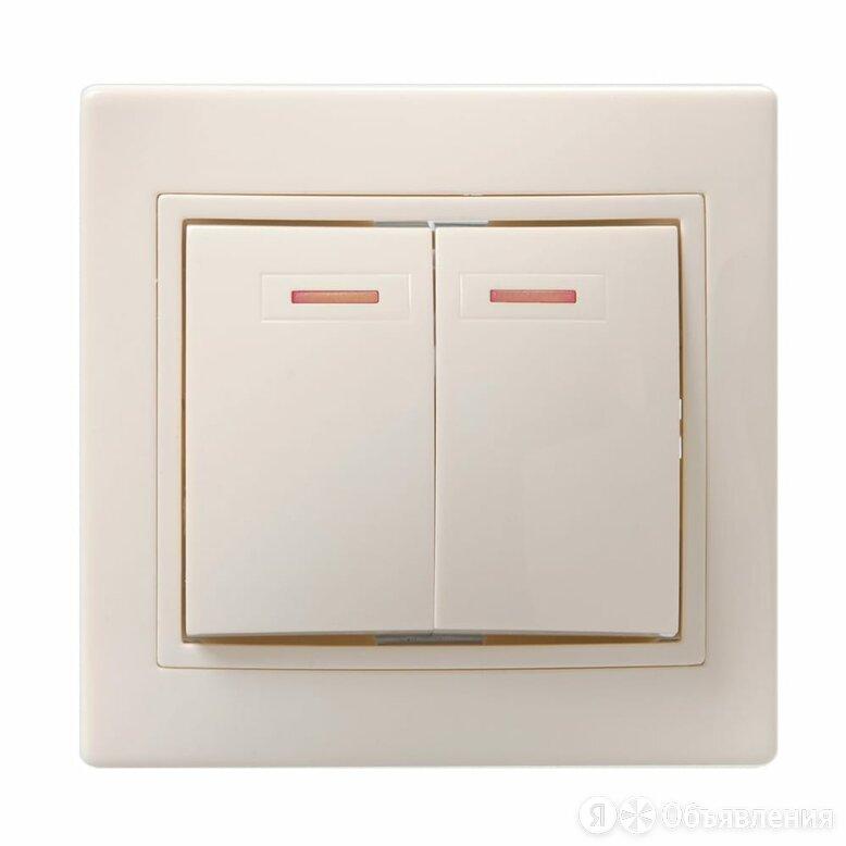 Двухклавишный выключатель IEK КВАРТА по цене 133₽ - Электроустановочные изделия, фото 0