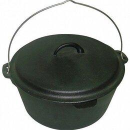 Туристическая посуда - Казан чугунный Mallony KС-31, черный, 6 л, 0