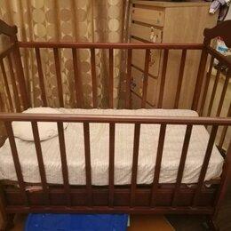 Кроватки - Кроватка Детская С Матрасом И Бортиками , 0