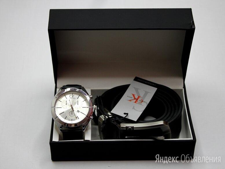 Мужской набор часы и ремень Calvin Klein по цене 1600₽ - Подарочные наборы, фото 0