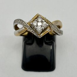 Кольца и перстни - Кольцо золото 750 бриллианты, 0