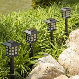 Уличное освещение - Садовый светильник на солнечной батарее, 2 шт, 0