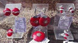 Комплекты - Серьги серебряные + кольцо + подвеска высшей…, 0