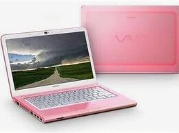 Ноутбуки - Ноутбук Sony i3/4gb/500gb/Radeon 1gb/14' розовый, 0