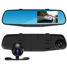Видеорегистраторы - Зеркало с видеорегистратором (2 камеры) blackbox DVR???, 0