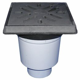 Бра и настенные светильники - HL606.1/1 Дворовый трап DN110 с вертикальным выпуском, чугунным подрамником и ре, 0