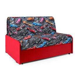 Диваны и кушетки - Диван-кровать Шарм-Дизайн Коломбо БП машинки турбо и красный, 0