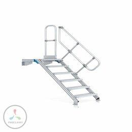 Лестницы и элементы лестниц - Ступени с платформой и перилами, 13 ступеней…, 0