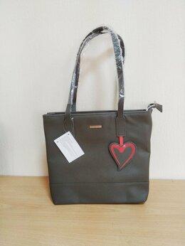 Сумки - Новая серая женская сумка, 0