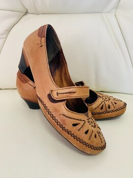 Туфли - туфли с застёжкой на липучке на низком каблуке, 0