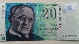 Банкноты -  Финляндия 20 марок 1993 г, 0