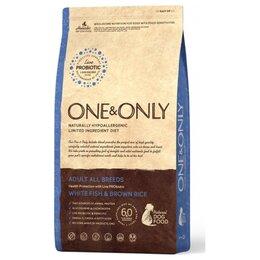 Корма  - One Only Dog White Fish Brown Rice 3 кг Сухой…, 0