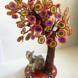 Статуэтки и фигурки - Дерево из бисера «Индийский колорит», 0